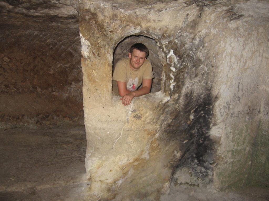Тепе-Кермен внутри пещеры