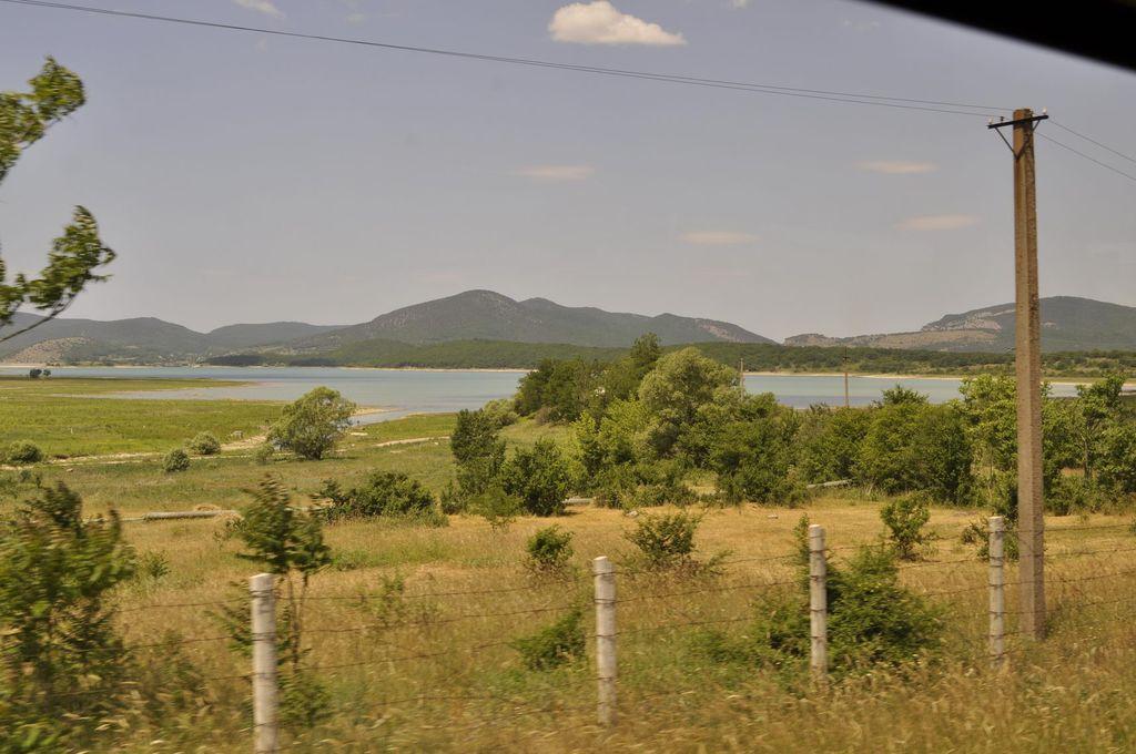 Байдарская долина вид из автобуса